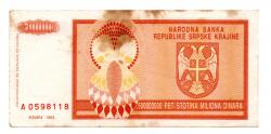 Croácia - 500.000.000 Dinara - Cédula Estrangeira - Bc