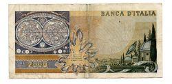 Itália - 2000 Lire - Cédula Estrangeira