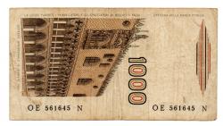 Itália - 1000 Lire - Cédula Estrangeira - Bc