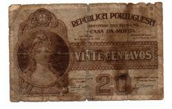 Portugal - 1928 - 20 Centavos - Cédula Estrangeira