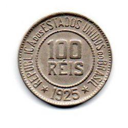 1925 - 100 Réis - Moeda Brasil - Estado de Conservação: Flor de Cunho (FC)