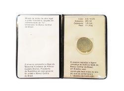 1989 - 10 Cruzeiros - Moeda Comemorativa - 10º Aniversário do Banco Central do Brasil - BC 10 Anos - Prata .800 - Aprox. 11,3g - 28mm
