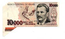 C223 - 10000 Cruzeiros - ERRO DE CORTE - Vital Brazil - Data: 1991 - Sob/Fe
