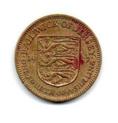 Jersey - 1957 - 1/4 Shilling