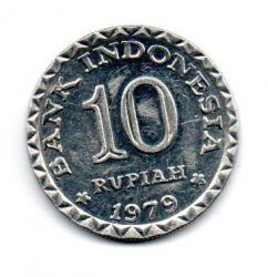 Indonésia - 1979 - 10 Rupiah Comemorativa (FAO - Programa Nacional de Poupança)