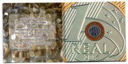 Cartela com 1 Moeda Comemorativa Banco Central 40 Anos - Mbc