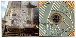 Cartela com 1 Moeda Comemorativa Banco Central 50 Anos - Mbc
