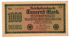 Alemanha - 1922 -  1000 Mark - Cédula Estrangeira