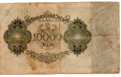 Alemanha - 1922 - 10.000 Mark - Cédula Estrangeira