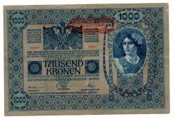 Áustria - 1000 Kronen - Cédula Estrangeira