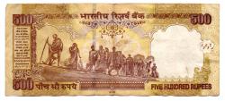 Índia - 500 Rupees  - Cédula Estrangeira