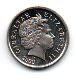 Gibraltar - 2000 - 5 Pence - Sob/Fc