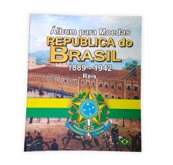 Álbum para Moedas Republica do Brasil 1889-1942 Réis