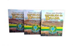 Kit com 3 Álbuns para Moedas Republica do Brasil 1889 - 1942 / 1942 - 1994 / 1994 - 2025