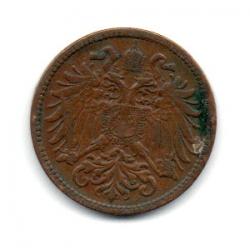 Monarquia Austro-Húngara - 1909 - 2 Heller