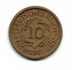 Alemanha República de Weimar -1935F - 10 Reichspfennig