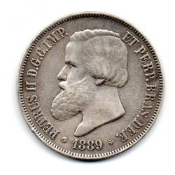 1889 - 2000 Réis - Prata - Moeda Brasil Império