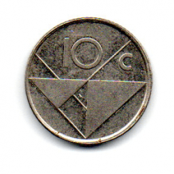 Aruba - 1987- 10 Cents
