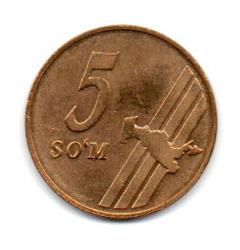 Uzbequistão - 2001 - 5 Som