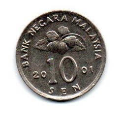 Malásia - 2001 - 10 Sen