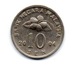 Malásia - 2004 - 10 Sen