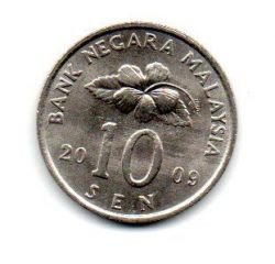 Malásia - 2009 - 10 Sen