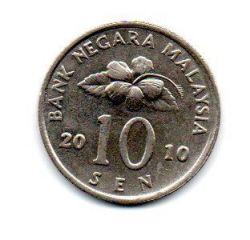 Malásia - 2010 - 10 Sen