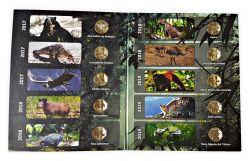 Álbum Completo Moedas Peru Fauna Silvestre - 10 moedas Fc