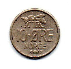 Noruega - 1967 - 10 Ore