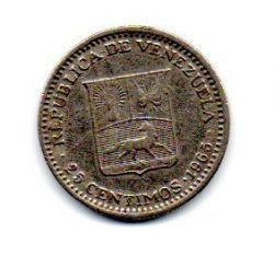 Venezuela - 1965 - 25 Céntimos