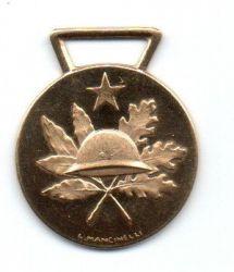 Medalha Italiana Ouro .750 (18k) Aprox. 5,25g - 20mm (diâmetro) - 50 Anos da 1° Guerra Mundial - 50° Anniversario Della Vittoria 1918 -1968