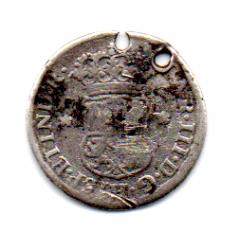 Bolívia - 1767 - 1/2 Real - RARA (VARIANTE J.R) Carlos III - Prata - .917 - Aprox.  1,6g - 16,2mm