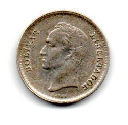 Venezuela - 1948 - ¼ Bolívar - Prata .835 - Aprox 1,25g - 16 mm