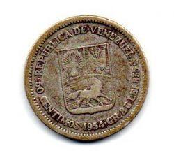 Venezuela - 1954 - 50 Céntimos - Prata .835 - Aprox 2,5g - 18 mm
