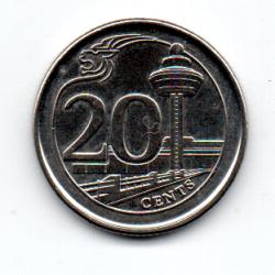 Cingapura - 2016 - 20 Cents