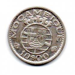 Moçambique - 1955 - 10 Escudos - Prata .720 - Aprox. 5 g - 24mm