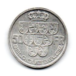 Bélgica - 1939 - 50 Francs - Prata .835 - Aprox. 20 g - 33mm