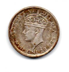 Terra Nova - 1945 - 10 Cents - Prata .800 - Aprox. 2,33 g - 18,03mm
