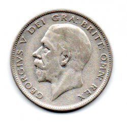Grã-Bretanha - 1935 - ½ Crown - Prata .500 - Aprox. 14,13 g - 32,3mm