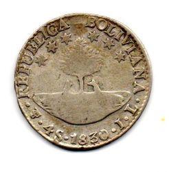 Bolívia - 1830 - 4 Soles - Prata .667 - Aprox. 13,5 g - 32mm
