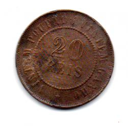 1889 - 20 Réis - Moeda Brasil