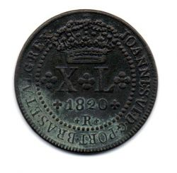 1820 - XL Réis - Moeda Brasil Reino