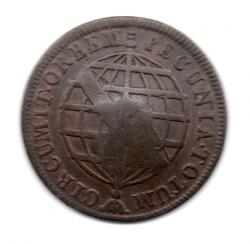 1784 - XX Réis - C/ Carimbo de Escudete - Moeda Brasil Colônia