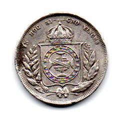 1862 - 200 Réis - Prata - Moeda Brasil Império - C/ Solda