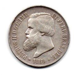 1889 - 2000 Réis - C/ Rabicho no Cabelo - Prata - Moeda Brasil Império