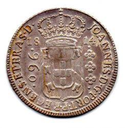 1814 - 960 Réis - Prata - Patacão - Moeda Brasil Colônia