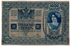 Áustria - 1.000 Kronen (DEUTSCHÖSTERREICH - Áustria Alemã) - Cédula Estrangeira