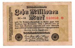 Alemanha - República de Weimar - 1923 - 10.000.000 Mark - Cédula Estrangeira