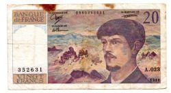 França - 20 Francs - Cédula Estrangeira
