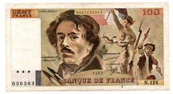 França - 100 Francs - Cédula Estrangeira